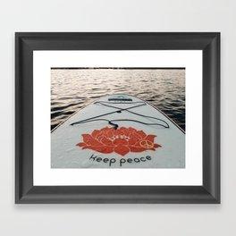 Keep Peace Framed Art Print