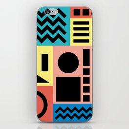 Neo Memphis Pattern 1 - Abstract Geometric / 80s-90s Retro iPhone Skin