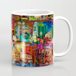 World Traveler Book Shelf Coffee Mug