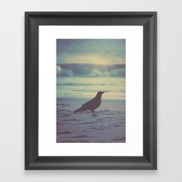 Blues & Crow Framed Art Print