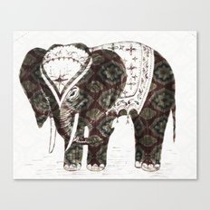 Festive Elephant love Canvas Print