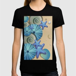 SEA SHELLS ON THE BEACH T-shirt
