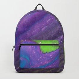 Dirty Acrylic Paint Pour 29, Fluid Art Reproduction Backpack