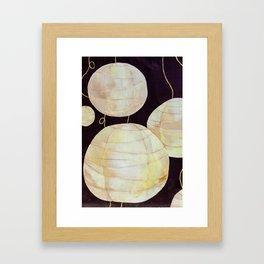 Painted Lanterns Framed Art Print