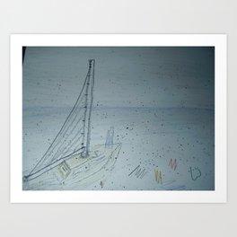 Zoe's Art Stuff-Sailboat Art Print
