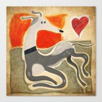 greyhound Canvas Prints featuring Greyhound by elgaga