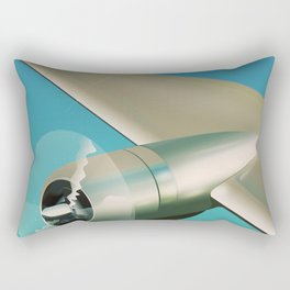 Travel the world - Go by air vintage poster Rectangular Pillow