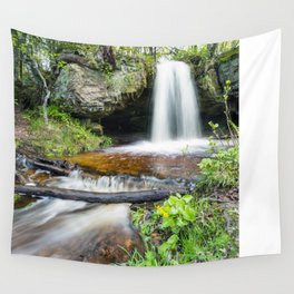 Scott Falls in Spring - Au Train Michigan Wall Tapestry