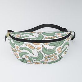 Platanitos White Background Fanny Pack