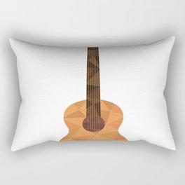 Low Poly Guitar Rectangular Pillow