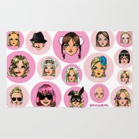 britney spears Area & Throw Rugs featuring CartooNEY - Britney Spears Cartoons by Eduardo Sanches Morelli