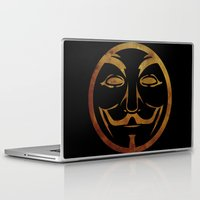 anonymous Laptop & iPad Skins featuring Anonymous by Spooky Dooky