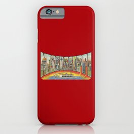 Vintage Big Letter Mississippi with Steam Boat iPhone Case