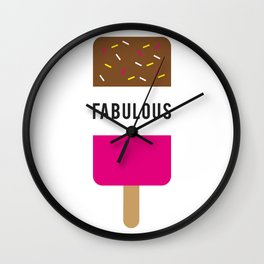 Fab-ulous Wall Clock