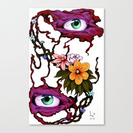 Flower of the Eyes (colorized) Canvas Print