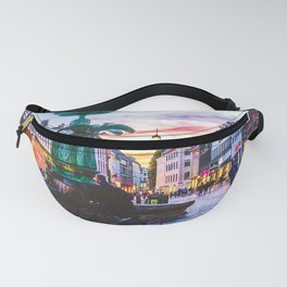 Photograph of a Warm Summer's Sunset over Copenhagen's Strøget Shopping Street Fanny Pack