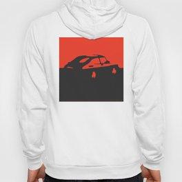 Saab 900 classic, Red on Black Hoody