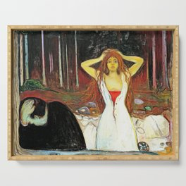 Edvard Munch - Ashes - Digital Remastered Edition Serving Tray