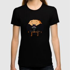 Cinnamon's Watch Black Womens Fitted Tee LARGE