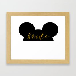 Mouse Ears Bride Framed Art Print