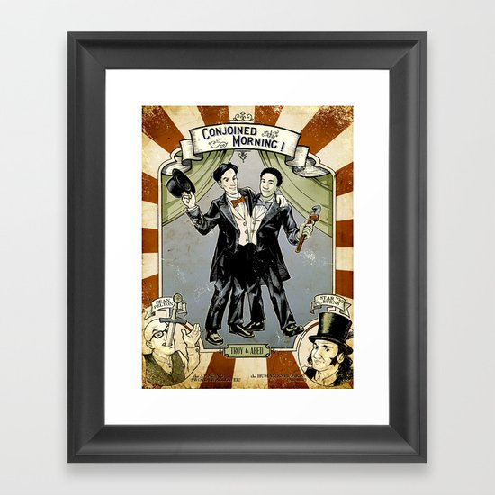 Conjoined in the Morning Framed Art Print
