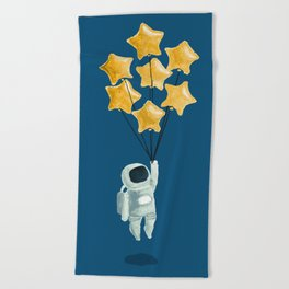 Astronaut's dream Beach Towel