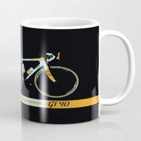 bike Mugs featuring Bike by Wyatt Design