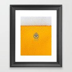 Sparkling Zuno Beer 01 Framed Art Print