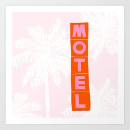 seaside motel Art Print