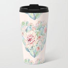 Three Hearts Cactus Rose Travel Mug