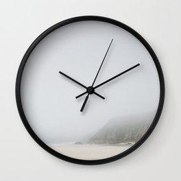 Sea Mist Beach, Pedn Vounder Beach, South Cornwall Wall Clock