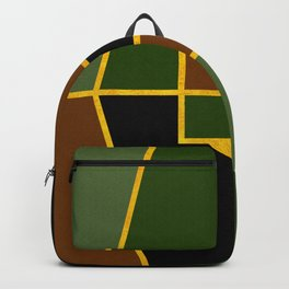 Color Block_Copse Green Gold Backpack