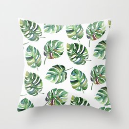 Leaves Everywhere Throw Pillow