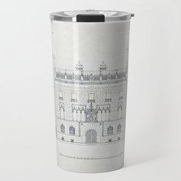 Vintage Architectural Drawings of Hallwyl House Travel Mug