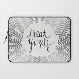 Treat Yo Self – Silver Laptop Sleeve