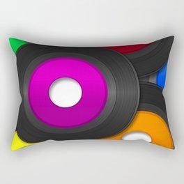 45 RPM Records Rectangular Pillow