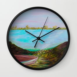 A Boat and a Seamless Sky Wall Clock
