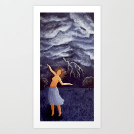 Storm Witch Art Print