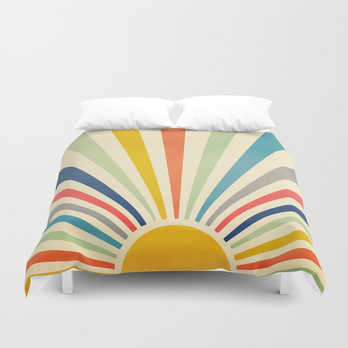 Sun Retro Art III Duvet Cover