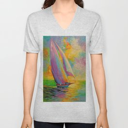 A fresh breeze Unisex V-Neck
