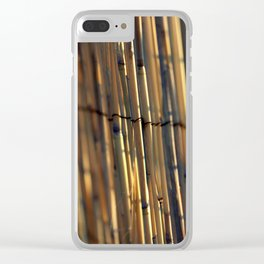 Bamboo Fence Clear iPhone Case