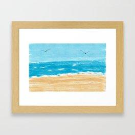 Beach Scene Framed Art Print