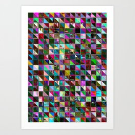 glitch color pattern Art Print