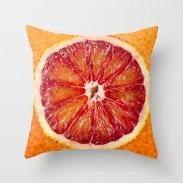 Blood Grapefruit Throw Pillow
