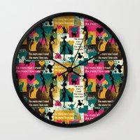 valentines Wall Clocks featuring alternative Valentines by kociara