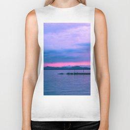 Sunset on the lake Biker Tank
