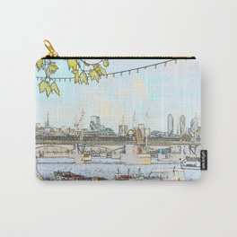 London River Scene Carry-All Pouch