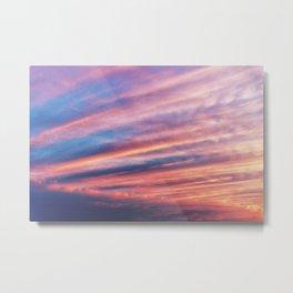 FIERY SUNSET, sky clouds nature Metal Print