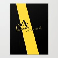 persona 4 Canvas Prints featuring Persona 4 by BlackHeartedInk