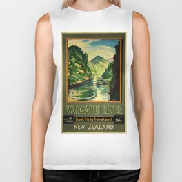 Vintage poster - Wanganui River Biker Tank